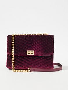 miss-selfridge-velvet-quilted-cross-body-bag-burgundy