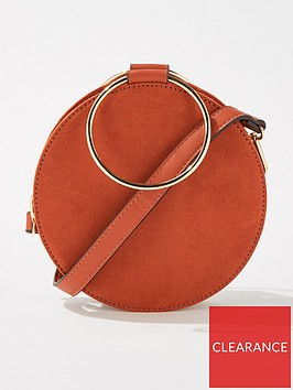 miss-selfridge-metal-circle-crossbody-bag-rust