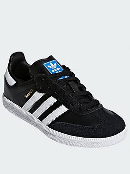 adidas-originals-samba-childrensnbsp--blackwhitenbsp