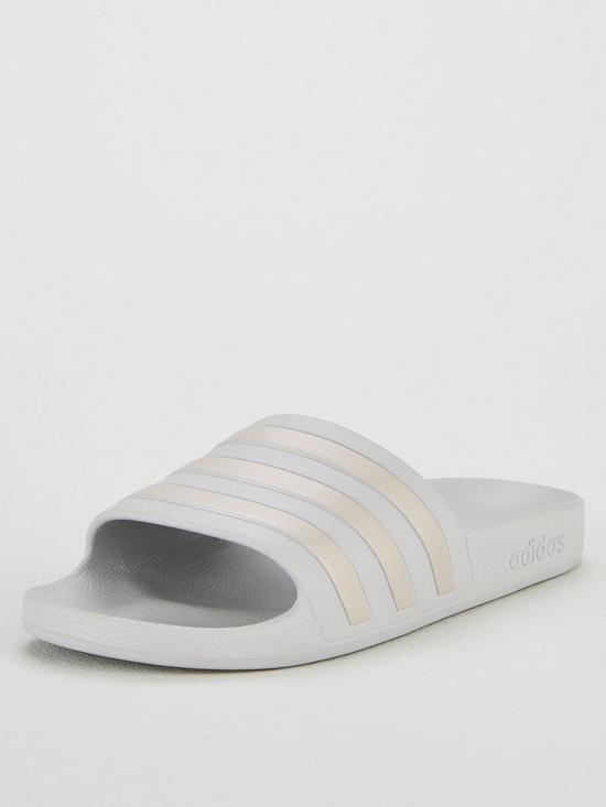 f0d985718 adidas Adilette Aqua Sliders - Grey Gold
