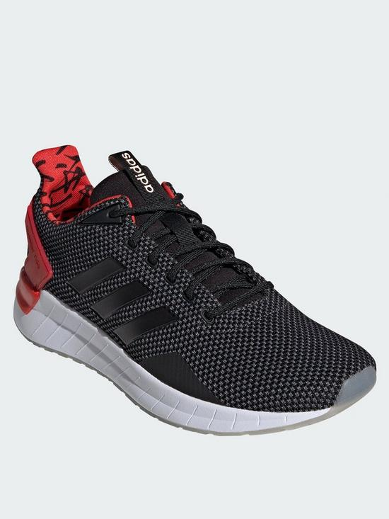 online store a14ed e60ba adidas Questar Ride Trainers - Black White Red   very.co.uk