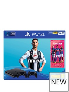 playstation-4-fifa-19-ps4-500gb-bundle-with-second-dualshock-4-controller-plus-optional-extras