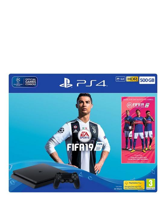 playstation 4 fifa 19 500gb console bundle with optional extras