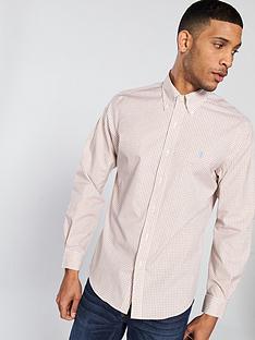 fae747be58 Polo Ralph Lauren Golf Polo Golf Non Iron Dobby Check Long Sleeve Shirt