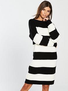 v-by-very-high-crew-neck-stripe-dress-stripe