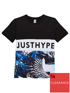 hype-boys-short-sleeve-half-tropical-print-t-shirt
