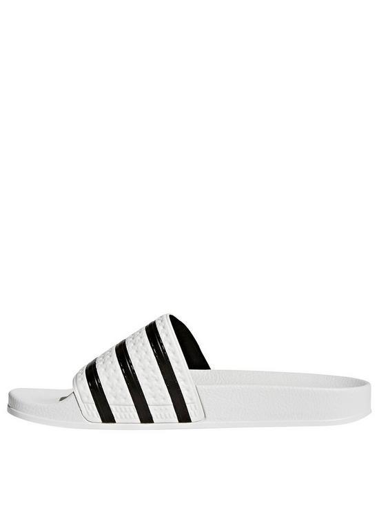 1409327da adidas Originals Adilette Sliders - White Navy