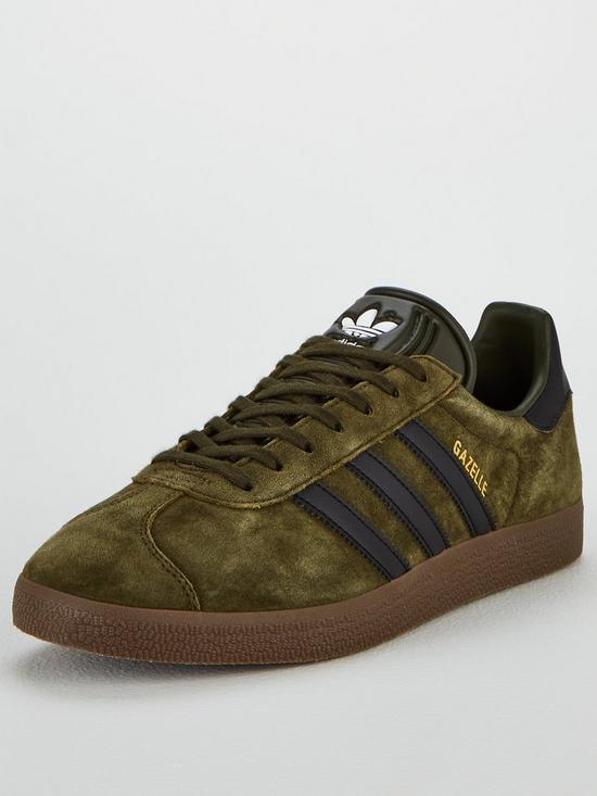 ebed48fd2378ad adidas Originals Gazelle - Khaki Black