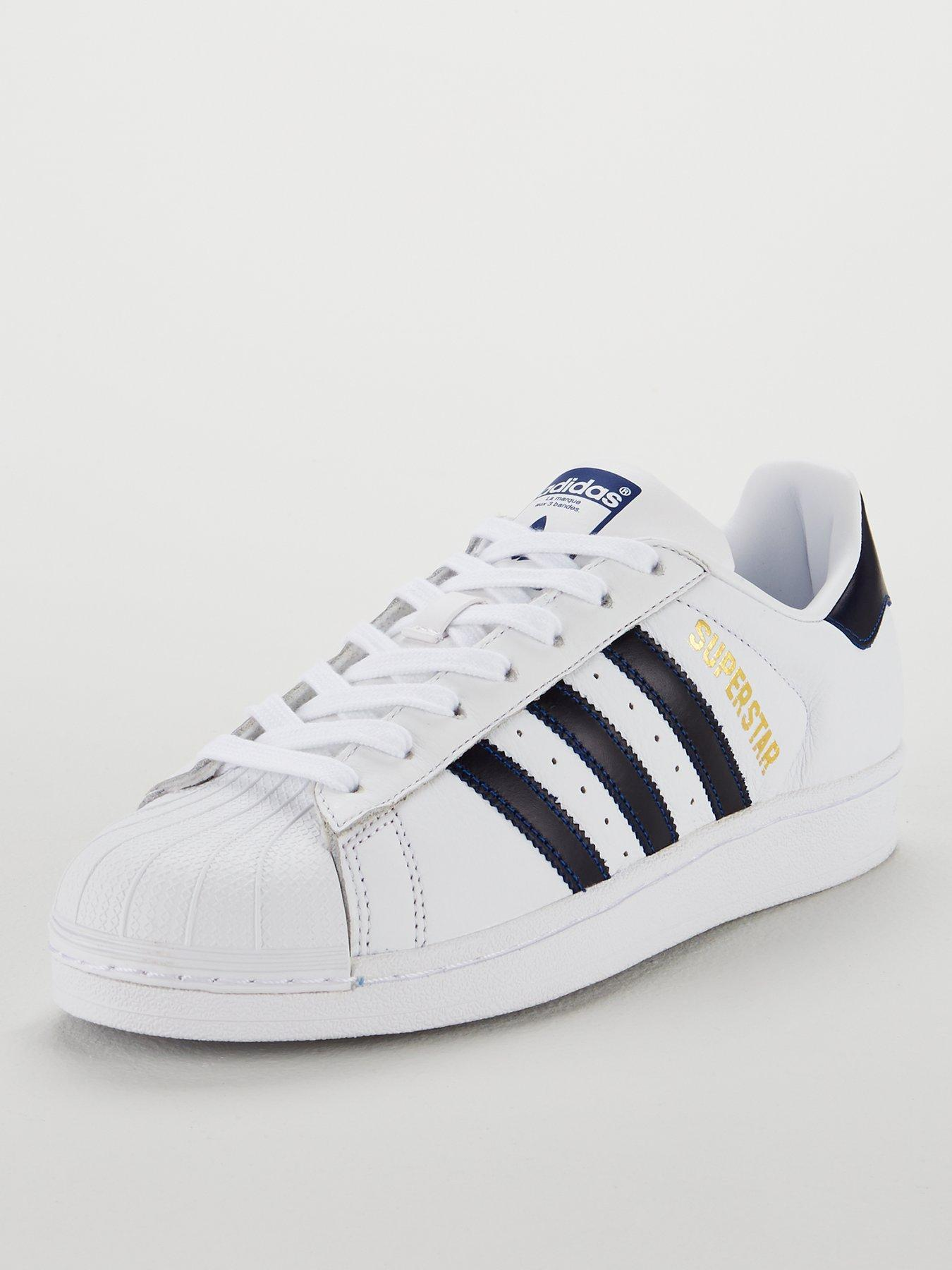Jewellery UK,Men Adidas Superstar Ii Black White Shoes
