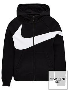 3eaec7bae59c Nike Boys Swoosh Zip Front Hoodie - Black