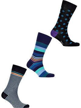 ps-paul-smith-mens-3-pack-mixed-spots-and-stripes-socksnbsp--navy