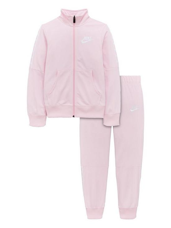 a36d0fa8cdde Nike Girls Nsw Tricot Tracksuit - Pink White