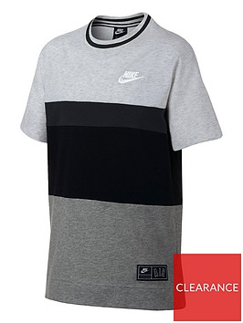 nike-boys-air-short-sleeve-t-shirt-blackgrey