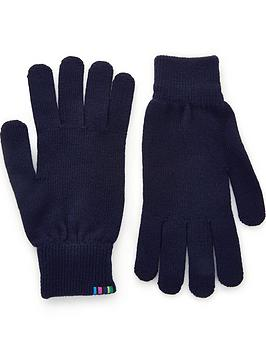 ps-paul-smith-mens-knitted-wool-logo-gloves-navy