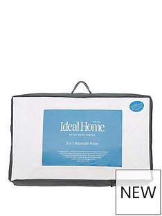 Ideal Home 3-in-1 Adjustable Pillow