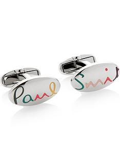 ps-paul-smith-mens-oval-logo-cufflinks-silver