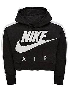 828edb947cd4 Nike Girls Nsw Crop Air Hoodie - Black