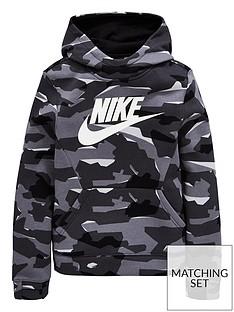 fb6324d02ee Nike Boys Nsw Camo Hoodie