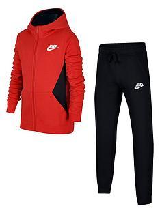 5525439a152912 Nike Boys Sportswear Core Tracksuit - Red