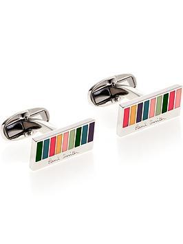 ps-paul-smith-mens-classic-stripe-cufflinksnbsp--silver