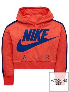nike-girls-sportswearnbspcrop-air-hoodienbsp--coralnbsp