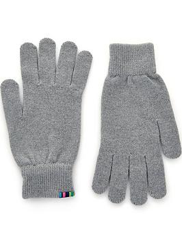 ps-paul-smith-mens-knitted-wool-logo-glovesnbsp--charcoal