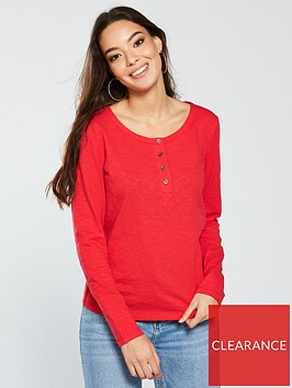 v-by-very-button-front-long-sleeve-top