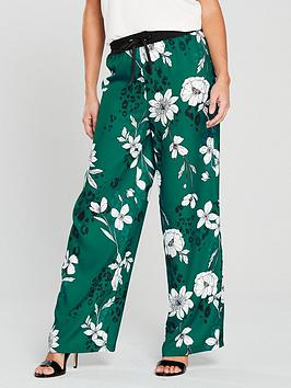 V By Very Unique Co-Ord Wide Leg Trouser - Printed