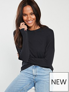 v-by-very-cupro-long-sleeve-top-black