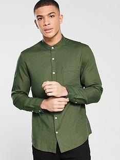v-by-very-grandad-soft-twill-shirt-green