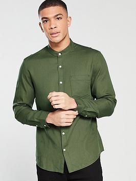 v-by-very-grandad-soft-twill-shirt-green
