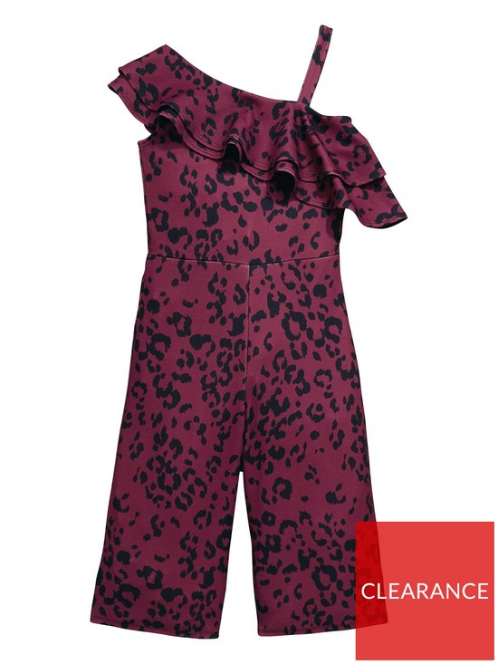 8598d9cf4 V by Very Girls Animal Printed Frill Party Jumpsuit   very.co.uk