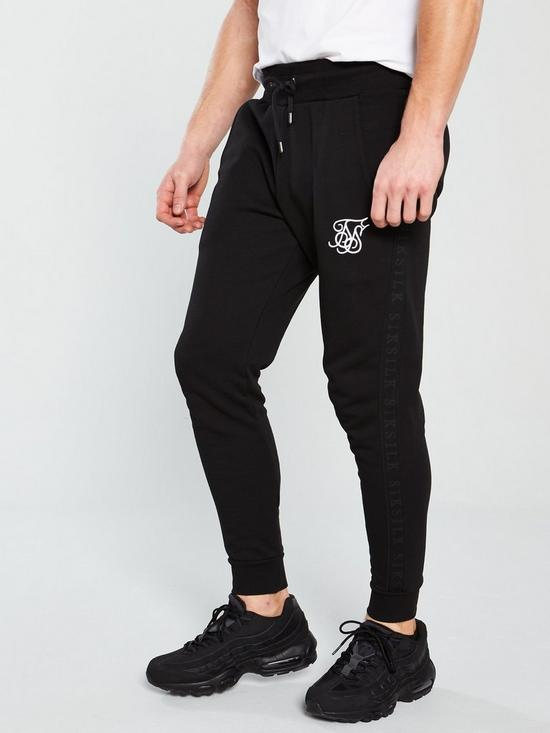 Sik Silk Muscle Fit Jogger - Black  8aca9dd5e245