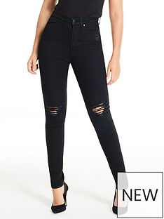 michelle-keegan-premium-skinny-distressed-jeans-black