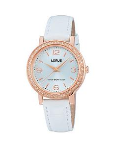 lorus-lorus-white-and-rose-gold-crystal-set-dial-white-leather-strap-ladies-watch