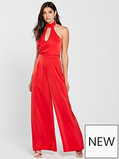 the-girl-code-wrap-high-neck-jumpsuit-red
