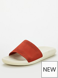 eaee29ba51e7 Lacoste Croco Slide - Red White