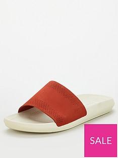 lacoste-croco-slide-redwhite