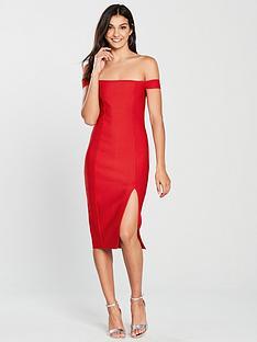 the-girl-code-bardot-midi-bandage-dress-red
