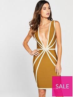the-girl-code-contour-bandage-dress-mustard