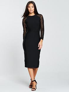 the-girl-code-bandage-and-lace-dress-black