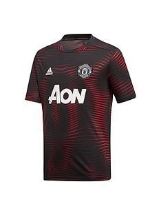 adidas-manchester-united-pre-match-tee-black