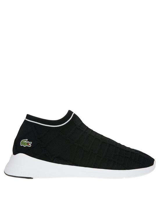 054f86106d76 Lacoste Light Fit Sock Trainers - Black