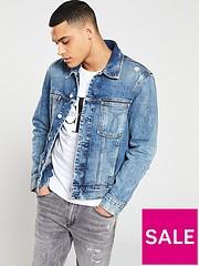 a61f9aff4 Calvin Klein Jeans Classic Denim Trucker Jacket - Mid Blue Wash
