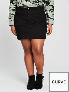v-by-very-curve-denim-skirt-black