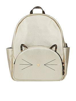 accessorize-leo-cat-backpack-metallic