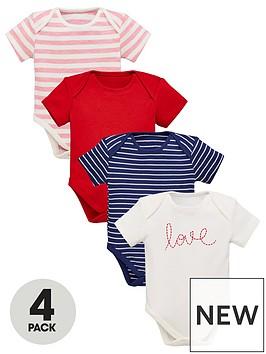mini-v-by-very-baby-4-pack-short-sleeved-bodysuits-multi-coloured