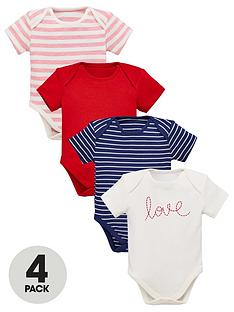 mini-v-by-very-baby-girls-4-pack-short-sleeved-bodysuits-multi-coloured