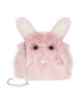 Monsoon Girls Florrie Bunny Pom Bag