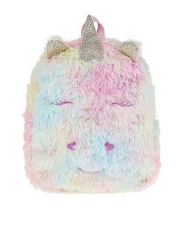 Monsoon Girls Luna Unicorn Fluffy Backpack